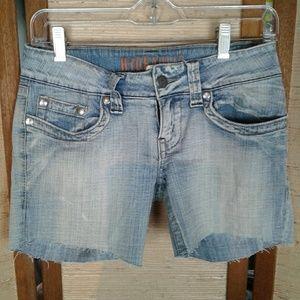 Hydraulic cutoffs denim shorts 5/6